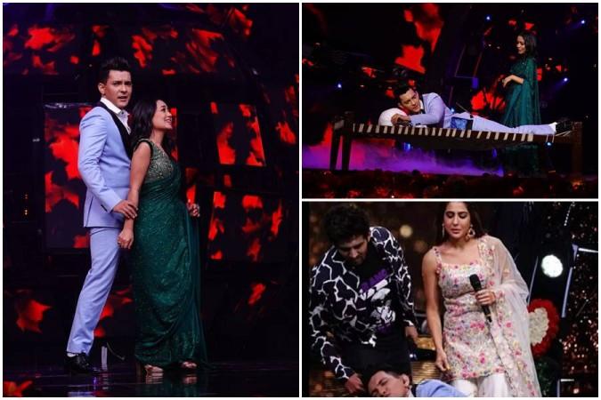 Neha Kakkar and Aditya Narayan's sensuous dance performance