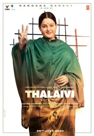 Kangana's Thalaivi's poster