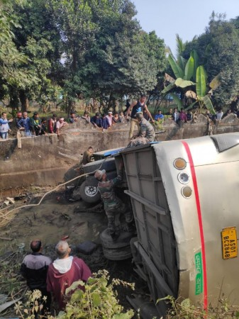 Assam bus accident. Twitter