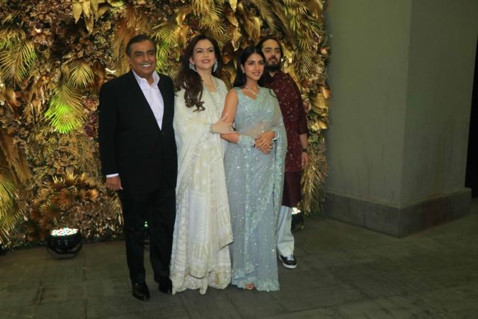 Mukesh Ambani, Nita Ambani, Radhika Merchant, Anant Ambani