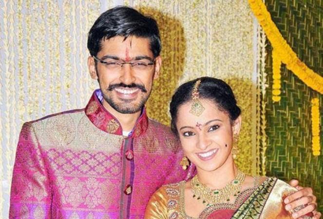 Ram Gopal Varma's daughter Revathi with her husband Pranav