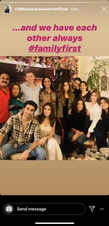 Kapoor family pic shared by Riddhima