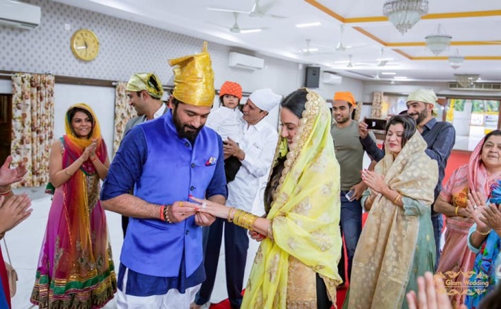 Kamya Panjabi's  ring ceremony at gurudwara
