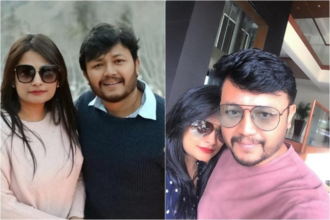 Golden star Ganesh with his wife Shilpa
