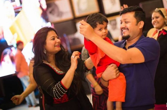 Ganesh with his wife Shilpa
