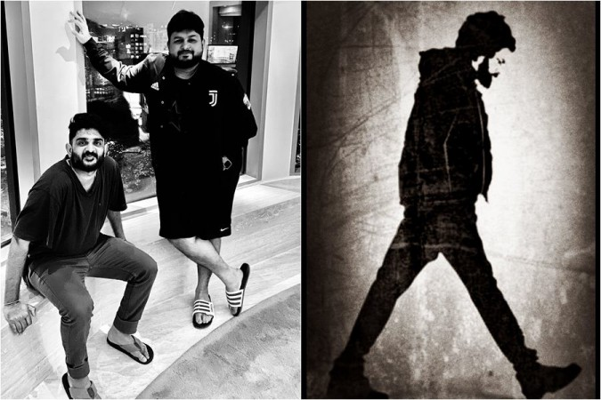 Sid Sriram with S Thaman and Pawan Kalyan's look in PSPK 26