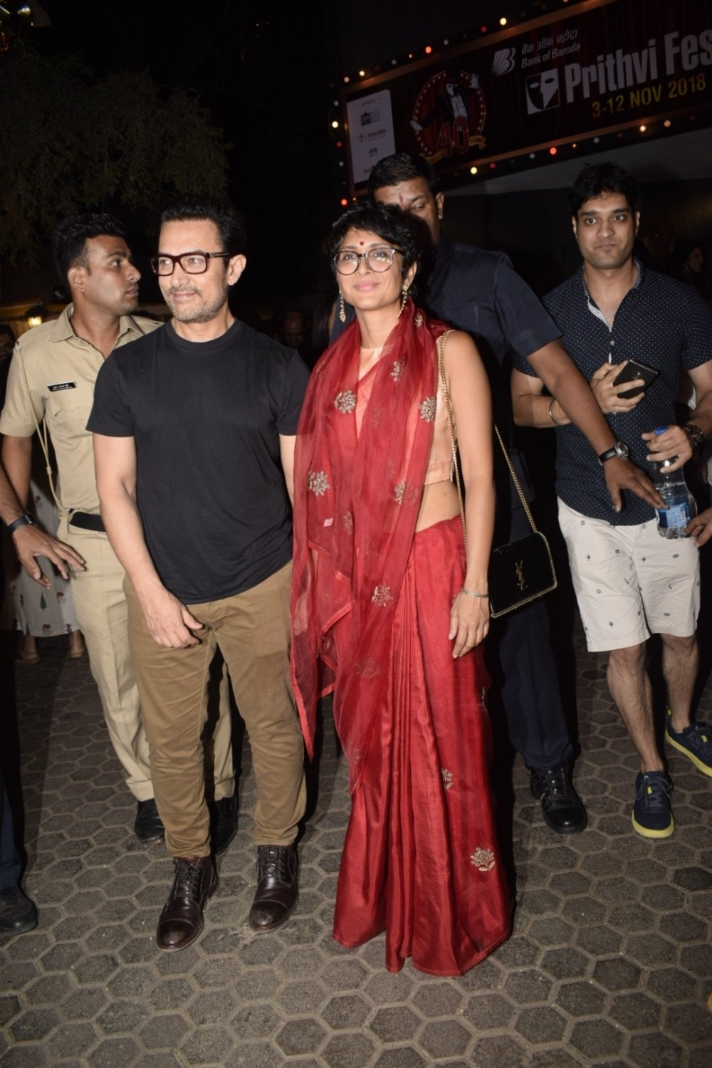 Thugs of Hindostan,Thugs of Hindostan actor,Aamir Khan and Kiran Rao,Aamir Khan,Kiran Rao,Aamir Khan and Kiran Rao at Prithvi theatre,40th Prithvi theatre festival,Prithvi theatre festival,Prithvi festival