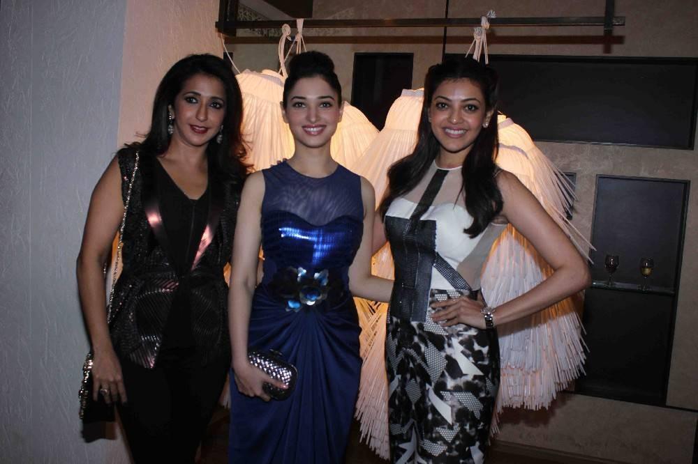 Tamannaah,Kajal Agarwal,Amit Agarwal's Fall Winter 2015,fashion event,Amit Agarwal's winter collection,winter collection,Kajal Aggarwal