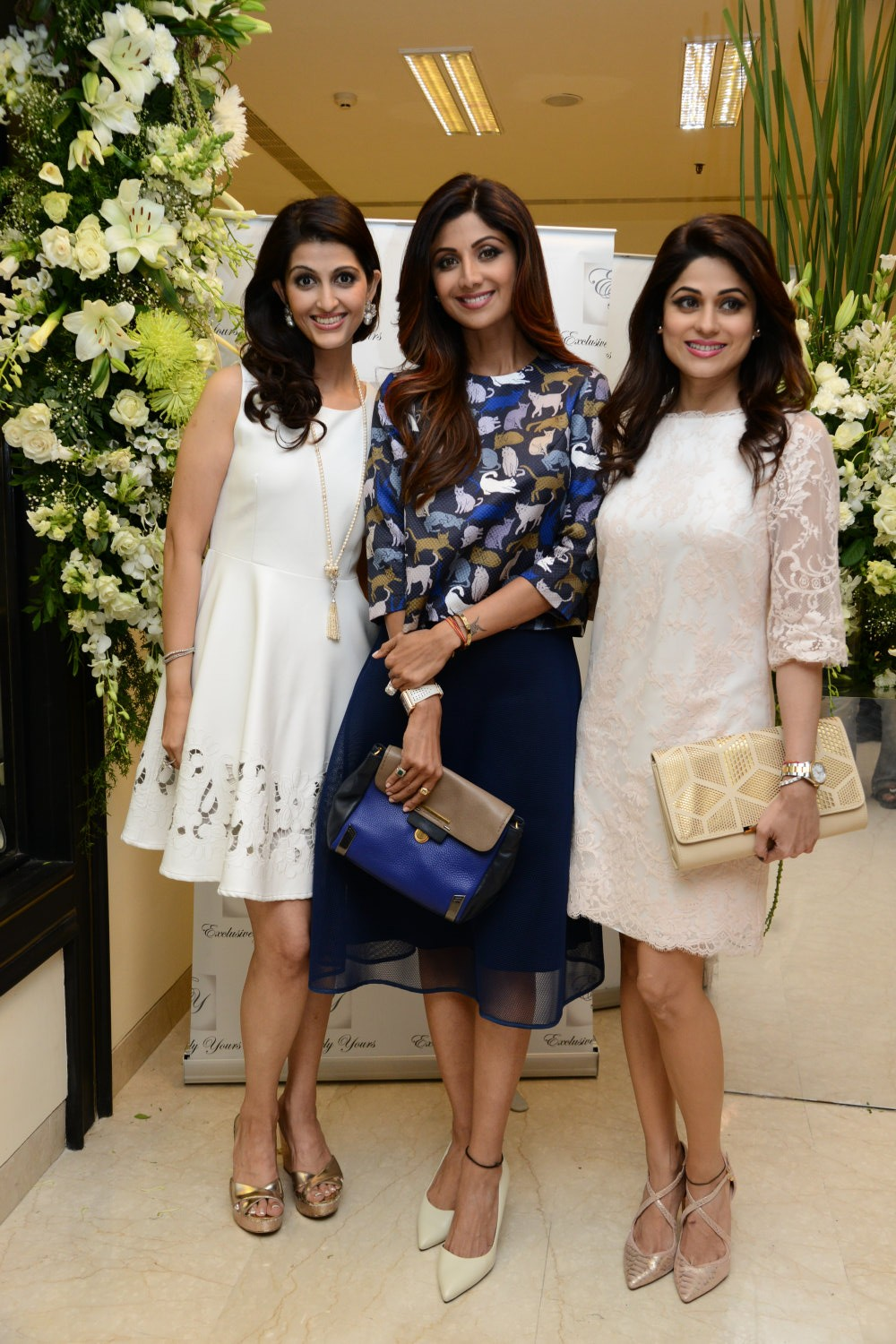 Akanksha Aggarwal,Shilpa Shetty,Shamita Shetty,Silverware Boutique launch,Neena,Neena & Akanksha Aggarwal,The Oberoi Shopping Centre,Silverware boutique
