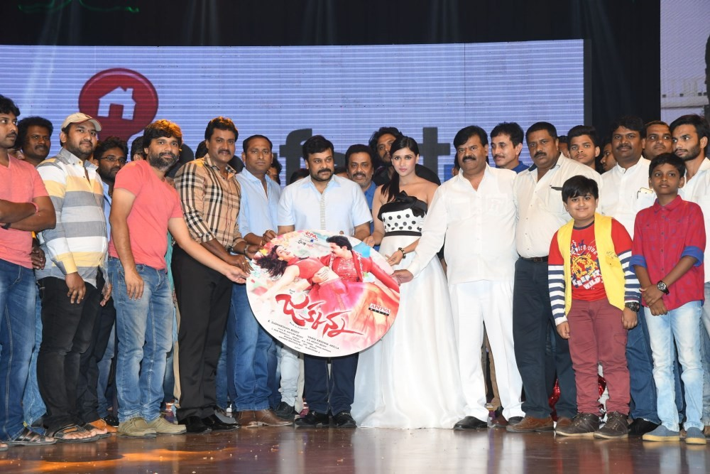 Chiranjeevi,Sunil,Jakkanna audio launch,Jakkanna audio launch pics,Jakkanna audio launch images,Jakkanna audio launch photos,Jakkanna audio launch stills,Jakkanna audio launch pictures,Mannara Chopra,Barbie Handa,Vamsi Krishna Akella,Mitali Handa,Anchor S