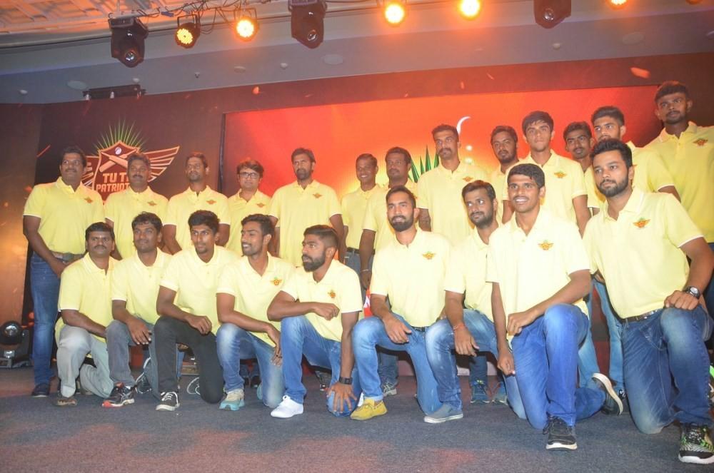 Prabhu Deva,Vijay,TUTI Patriots Team Anthem Launch,TUTI Patriots,Prabhu Deva,Director Vijay,Dr. Kumaran,Anthony,Dinesh Karthik,Abhinav Mukund,Lakshmipathy Balaji