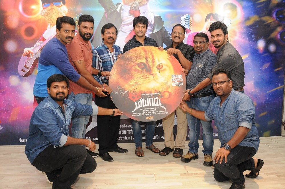 Tamil movie Meow music Launch held at Chennai. Actor Sivakarthikeyan, director Chinaas Palanisamy, producer Vincent Adaikalaraj, cinematographer Bhojan K Dinesh, Music composer Sreejith Edavano, Editor Satish Surya and others graced the event.