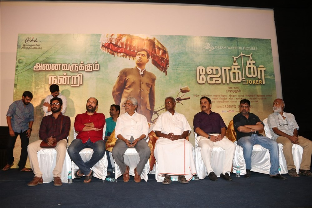 Joker Success Meet,Joker,Tamil movie Joker,Sivakumar,Lingusamy,Nallakannu,Raju Murugan,SR Prabhu,Sean Roldan,Editor Mohan,Ramasamy,Guru Somasundaram,Joker Success Meet pics,Joker Success Meet images,Joker Success Meet photos,Joker Success Meet stills,Joke
