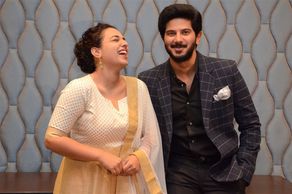 100 Days of Love Press Meet,100 Days of Love,Telugu movie 100 Days of Love,Dulquer Salmaan,Nithya Menen,Dulquer Salmaan and Nithya Menen,100 Days of Love Press Meet pics,100 Days of Love Press Meet images,100 Days of Love Press Meet photos,100 Days of Lov