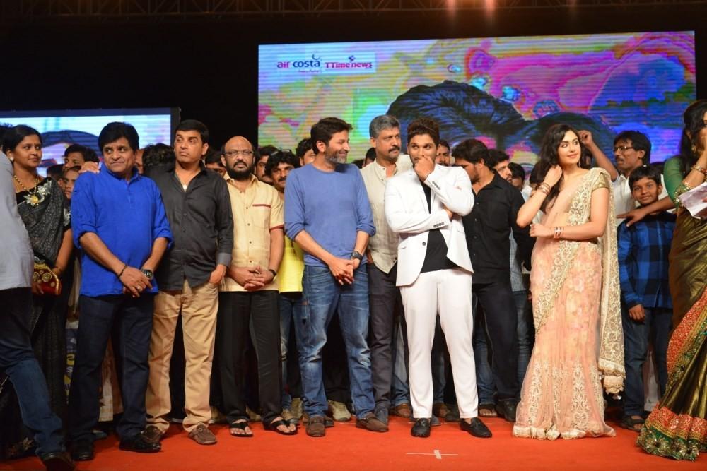 S/o Satyamurthy Audio Sucessmeet,S/o Satyamurthy,telugu movie S/o Satyamurthy,Allu Arjun,Adah Sharma,Director Trivikram Srinivas,Brahmanandam,Udaya Bhanu,telugu event