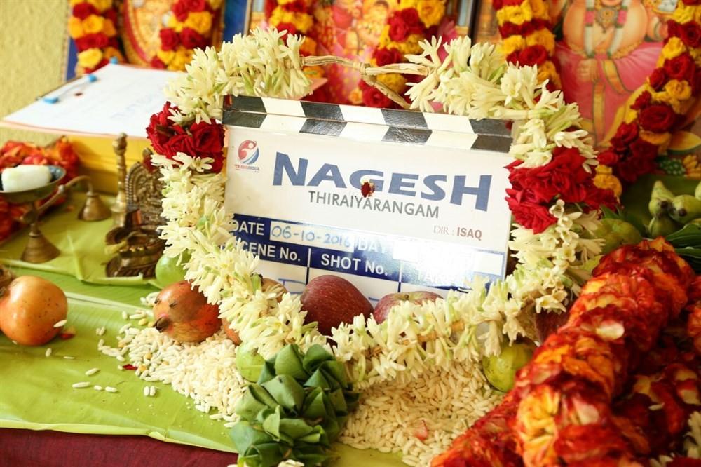 Nagesh Thiraiarangam movie launch,Nagesh Thiraiarangam,Nagesh Thiraiarangam movie pooja,Aari,Ashna Zaveri,Kaali Venkat,Latha,MS Prabhu,Mohamad Issack,Nagesh Thiraiarangam movie launch pics,Nagesh Thiraiarangam movie launch images,Nagesh Thiraiarangam movi