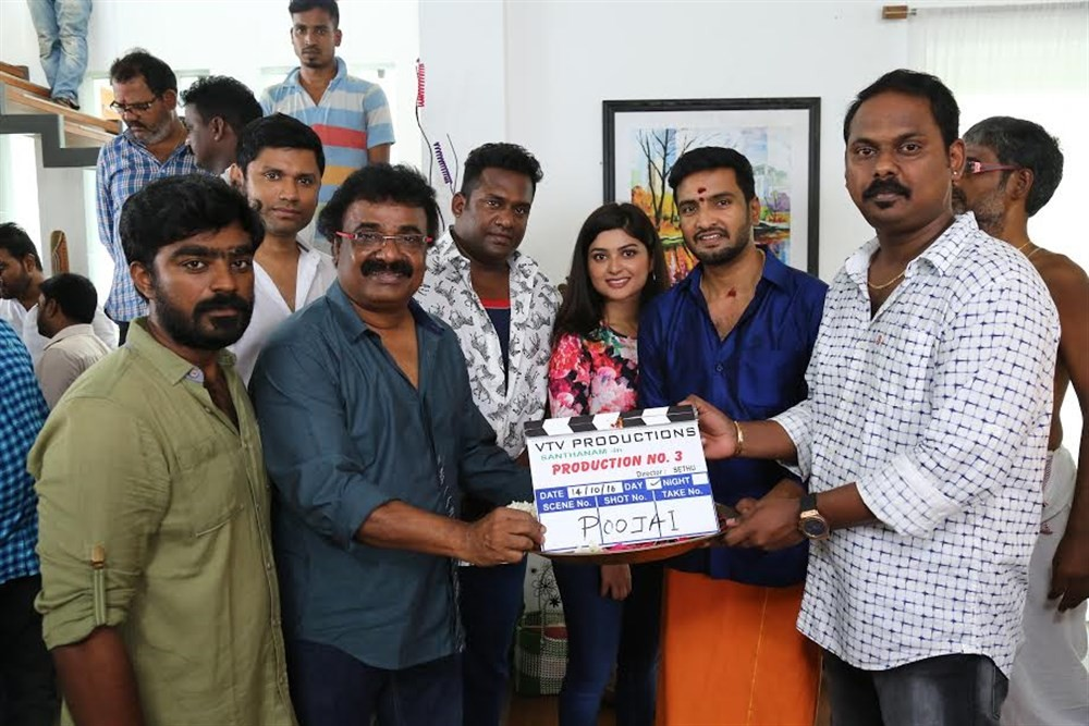 Santhanam new movie with Sethuraman,Santhanam new movie,Santhanam new movie pooja,Santhanam new movie launch,Santhanam new movie pooja pics,Santhanam new movie pooja images,Santhanam new movie pooja stills,Santhanam new movie pooja pictures,Robo Shankar,V