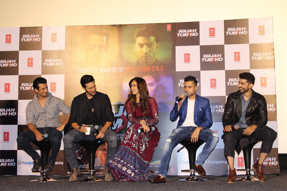 Sharman Joshi,Sana Khan,Rajneesh Duggal,Wajah Tum Ho Trailer launch,Wajah Tum Ho Trailer,Wajah Tum Ho,Wajah Tum Ho Trailer launch pics,Wajah Tum Ho Trailer launch images,Wajah Tum Ho Trailer launch photos,Wajah Tum Ho Trailer launch stills,Wajah Tum Ho Tr