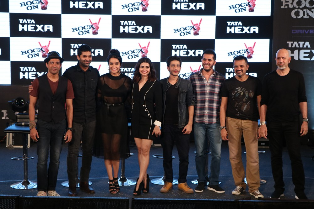 Farhan Akhtar,Shraddha Kapoor,Prachi Desai,Rock On 2 trailer launch,Rock On 2 trailer,Rock On 2