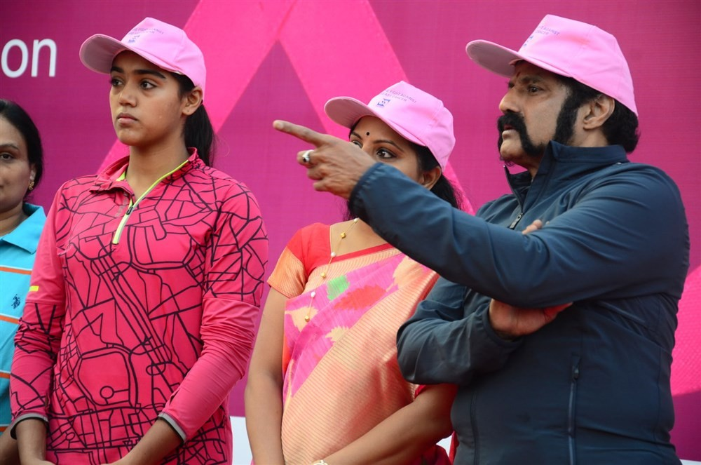 Balakrishna,Lakshmi Manchu,Nandamuri Balakrishna,Breast Cancer Awareness Walk,Breast Cancer,Breast Cancer Awareness,Balakrishna at Breast Cancer Awareness Walk,Lakshmi Manchu at Breast Cancer Awareness Walk