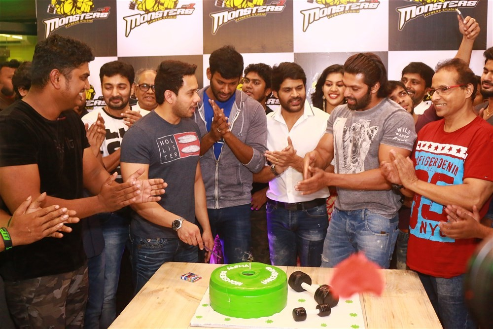 Monsters Alpha Fitness Studio Launch,Monsters Alpha Fitness Studio,Vishal,Arya,Santhanam,Shaam,Bharath,Monsters Alpha Fitness Studio Launch pics,Monsters Alpha Fitness Studio Launch images,Monsters Alpha Fitness Studio Launch photos,Monsters Alpha Fitness