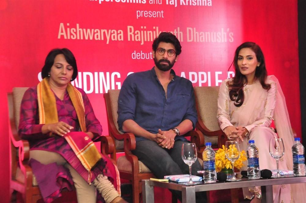 Aishwarya R. Dhanush,Aishwarya Dhanush,Rana Daggubati,Standing On An Apple Box book launch,Standing On An Apple Box,Sridevi Vijayakumar,actor Rana Daggubati,Aishwarya,Dhanush