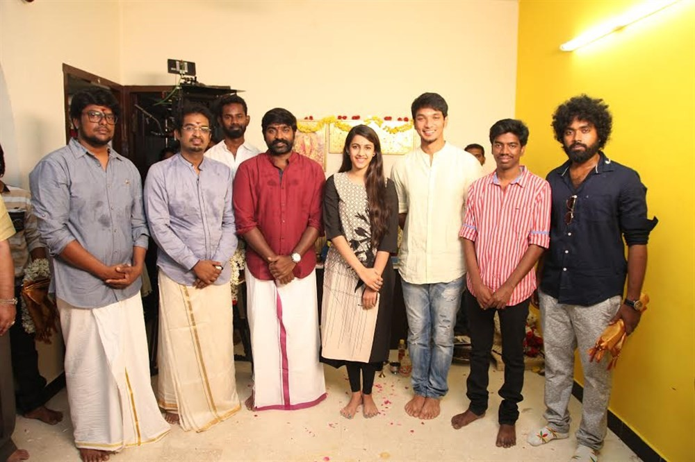 Vijay Sethupathi,Gautham Karthik,Niharika movie launch,Niharika movie pooja,Niharika launch,Tamil movie Niharika,Niharika pics,Niharika images,Niharika stills,Niharika pictures