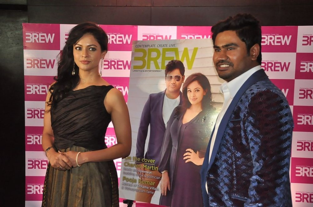 Pooja Kumar Launches BREW Magazine,BREW Magazine,Pooja Kumar,actress Pooja Kumar,Pooja Kumar latest pics,Pooja Kumar latest photos,Charles Martin