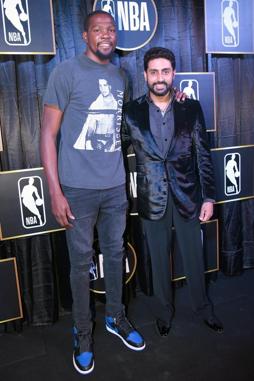 NBA player Kevin Durant,Kevin Durant,Abhishek Bachchan,Vijay Amritraj,Rannvijay Singha