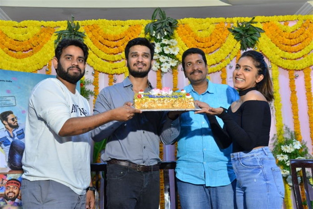 Nikhil Siddharth,Samyuktha Hegde,Kirrak Party success celebrations,Kirrak Party success,Kirrak Party,telugu movie Kirrak Party,Kirrak Party pics,Kirrak Party images