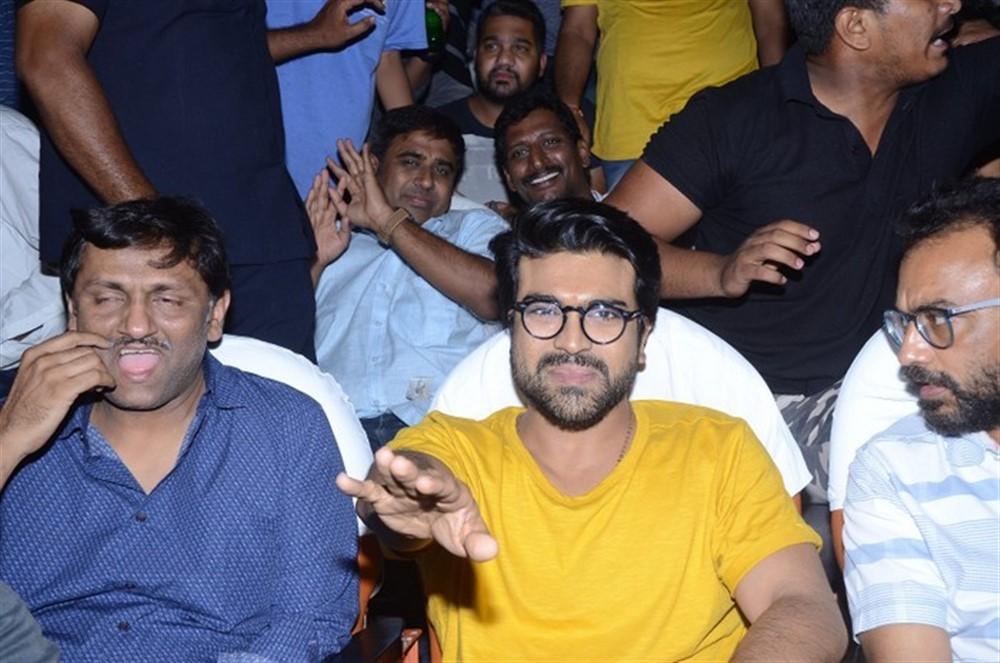 Rangasthalam,Rangasthalam movie,Ram Charan watches Rangasthalam,Ram Charan,Ram Charan Teja,Ram Charan at Sudarshan theater,Ram Charan pics,Ram Charan images
