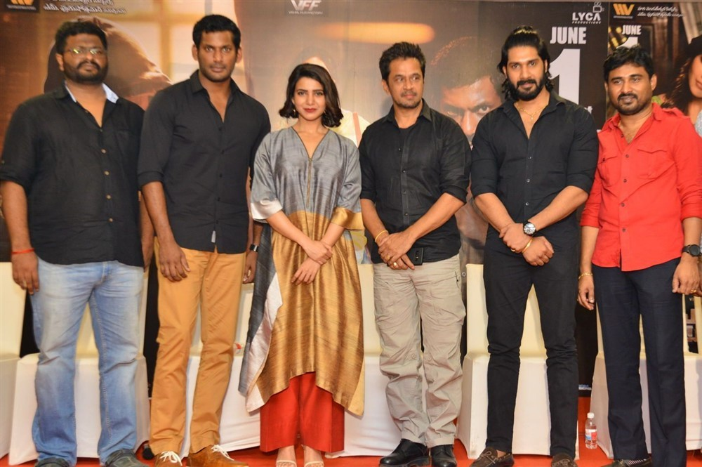 Vishal,Arjun,Samantha,PS Mithran,Ramana,Hari Gujjalapudi,Abhimanyudu press meet,Abhimanyudu press meet pics,Abhimanyudu press meet images,Abhimanyudu press meet stills,Abhimanyudu press meet photos