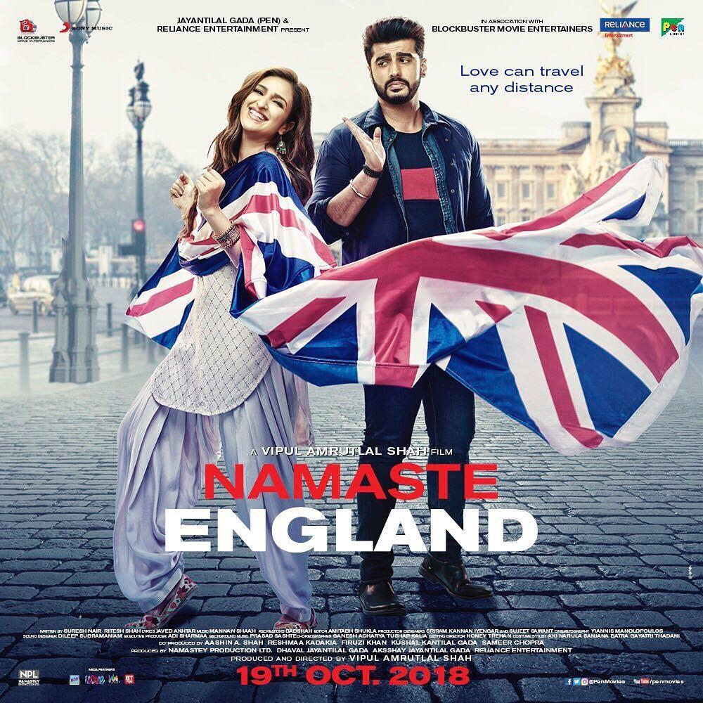 Namaste England posters,Namaste England,Namaste England movie posters,Arjun Kapoor and Parineeti Chopra,Arjun Kapoor,Parineeti Chopra