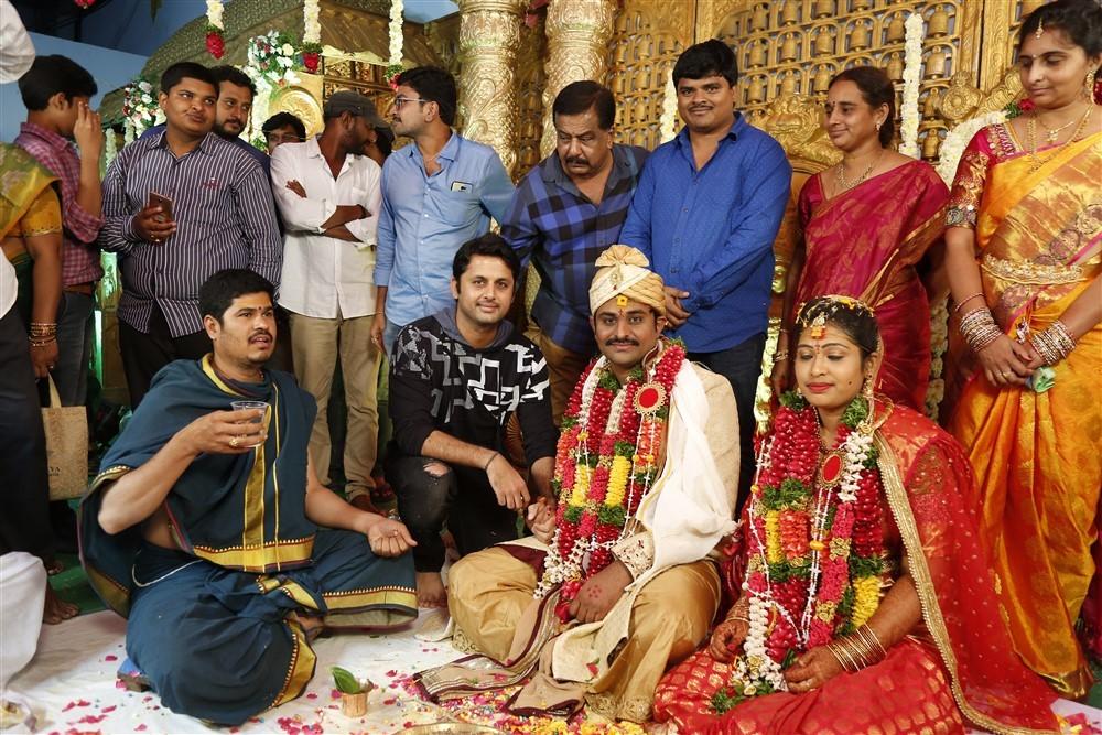 Nithin,Ram Pothineni,RX100 director,Ajay Bhupathi weds Shirisha,Ajay Bhupathi wedding pics,Ajay Bhupathi wedding images,Ajay Bhupathi wedding stills,Ajay Bhupathi wedding pictures,Ajay Bhupathi wedding photos,Ajay Bhupathi marriage,Ajay Bhupathi marriage