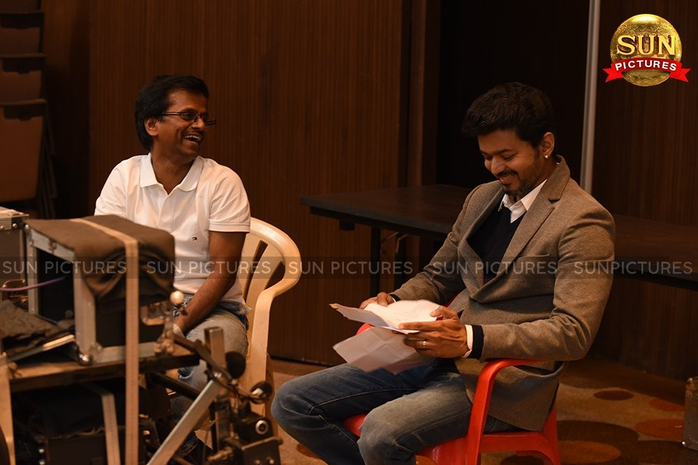 Vijay,Ilayathalapathy Vijay,Vijay Sarkar working stills,Vijay Sarkar working pics,Vijay Sarkar working images,AR?Murugadoss,Sarkar working stills,Sarkar working pics,Sarkar working images,Sarkar working pictures,Sarkar working photos