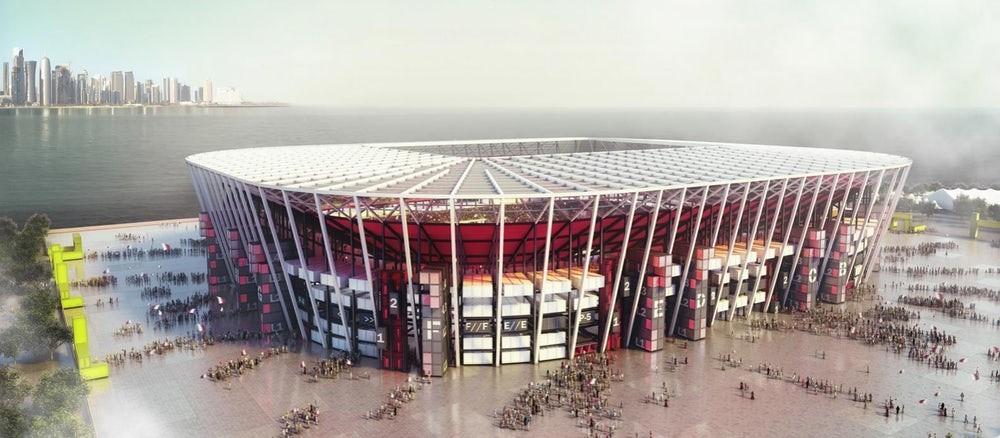 Ras Abu Aboud Stadium design