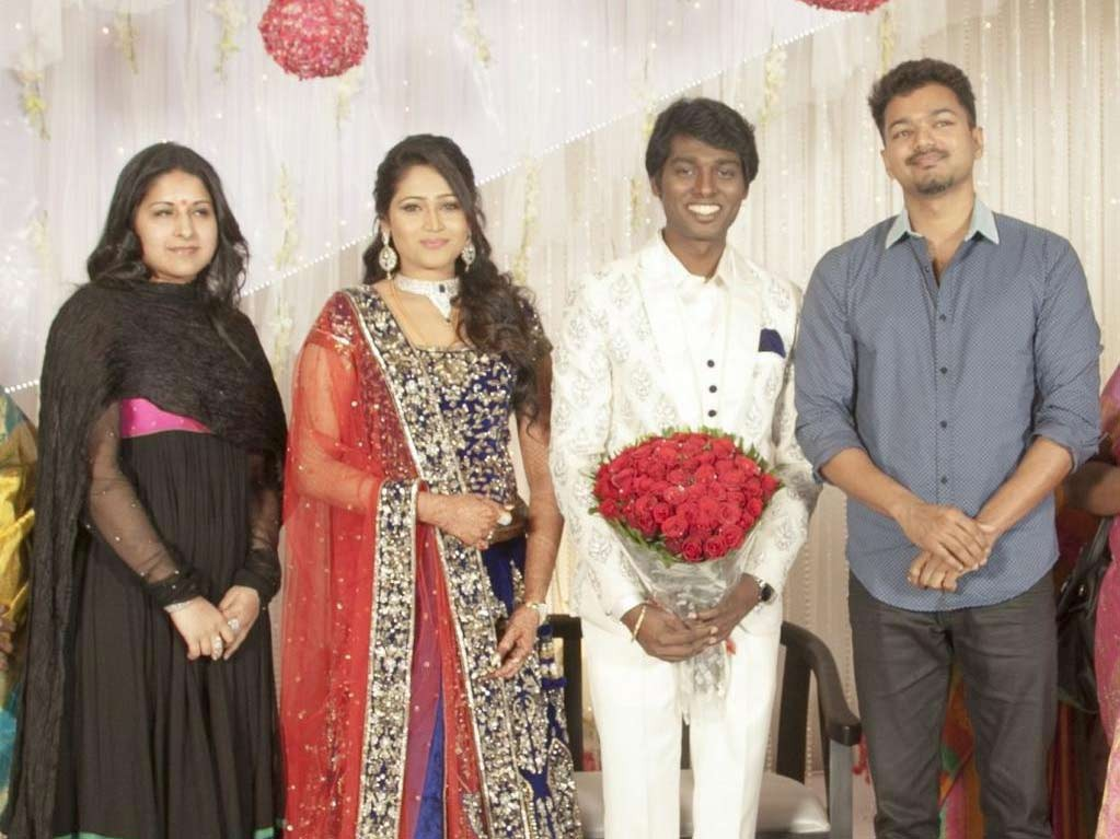 Sangeetha, Krishna Priya, Atlee Kumar with Vijay