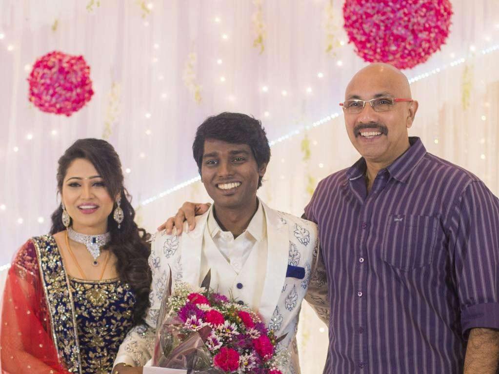 Sathyaraj at Atlee-Krishna Priya's Wedding Reception