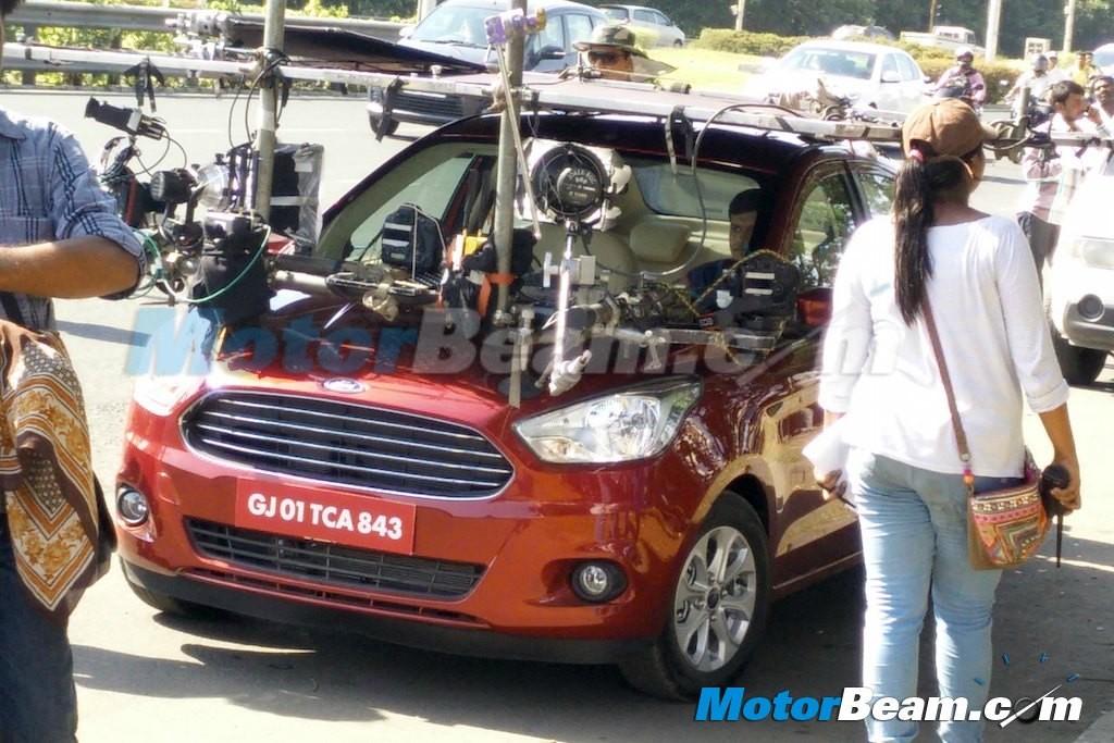 Ford Figo Aspire Sedan Spied Undisguised During a Photoshoot