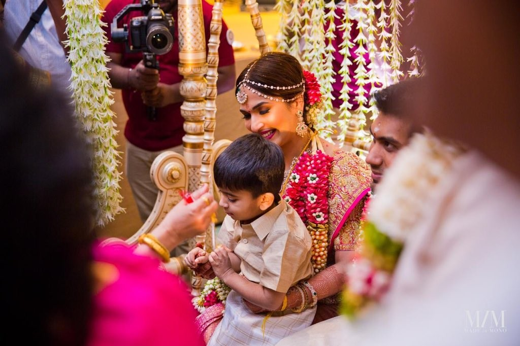 Soundarya Rajinikanth with her Son at her Wedding
