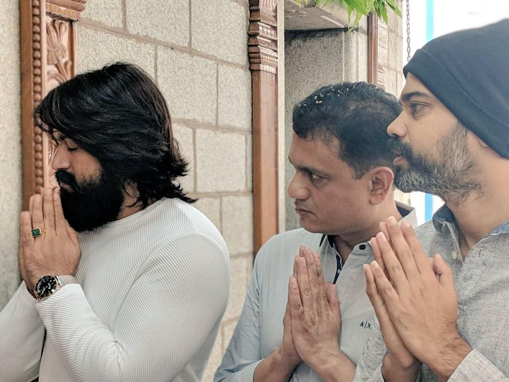 Yash, Vijay Kiragandur and Prashanth Neel at KGF 2 Launch