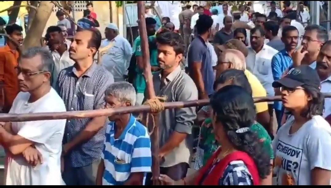 Kollywood Celebs Vote: Vijay Casts His Vote