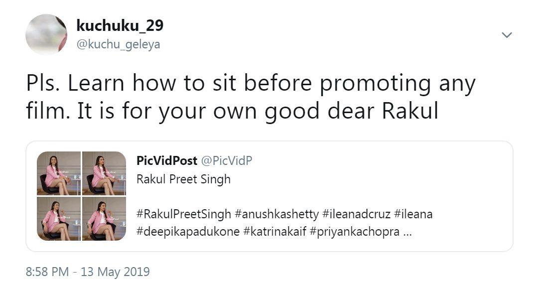 Rakul Preet Singh Slammed for Wearing Short Skirt