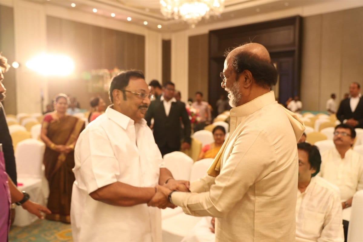 MK Alagiri at Soundarya Rajinikanth's Wedding with Vishagan