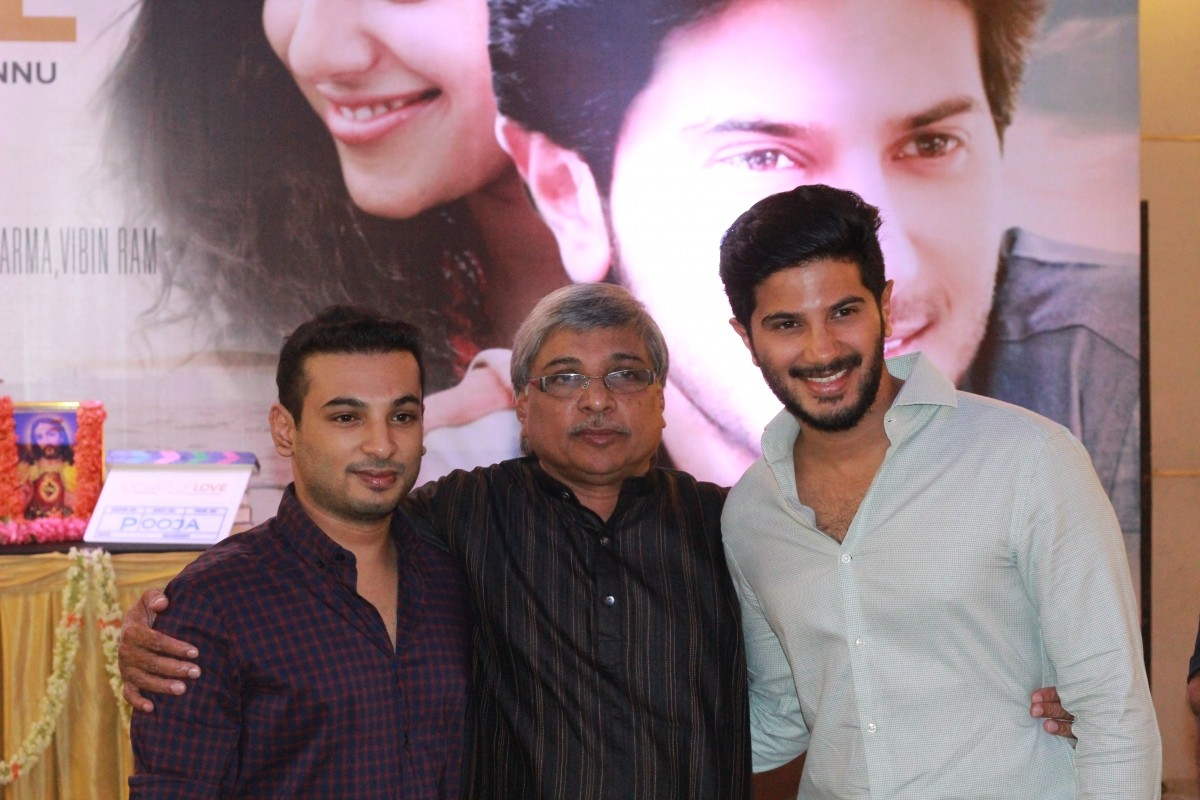 Director Kamal with his son and director Jenuse Mohamed and Dulquer Salmaan