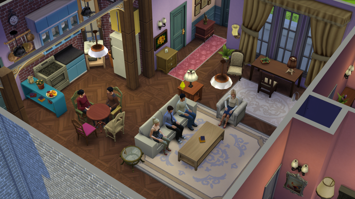 Monica's apartment on the Sims 4