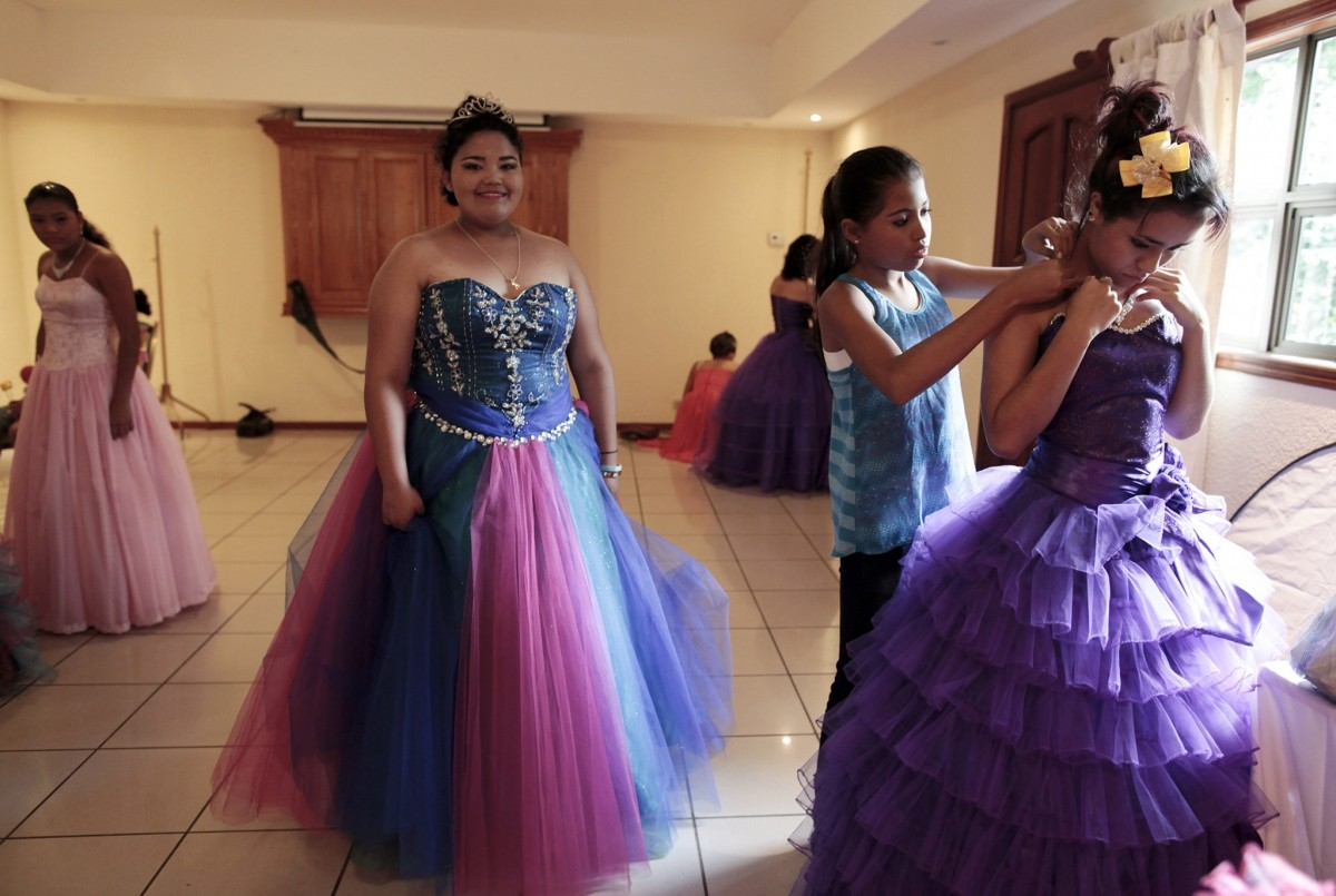 Female cancer patients prepare for their Quinceanera