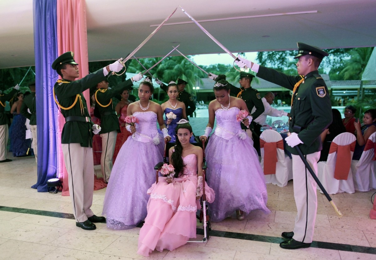 Female cancer patients take part in their Quinceanera