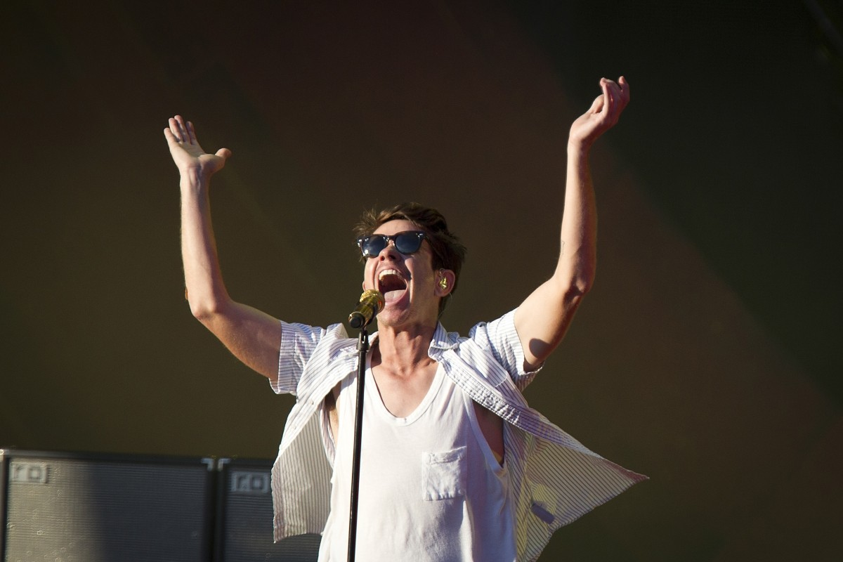 Nate Ruess of Fun perform at the Global Citizen Festival