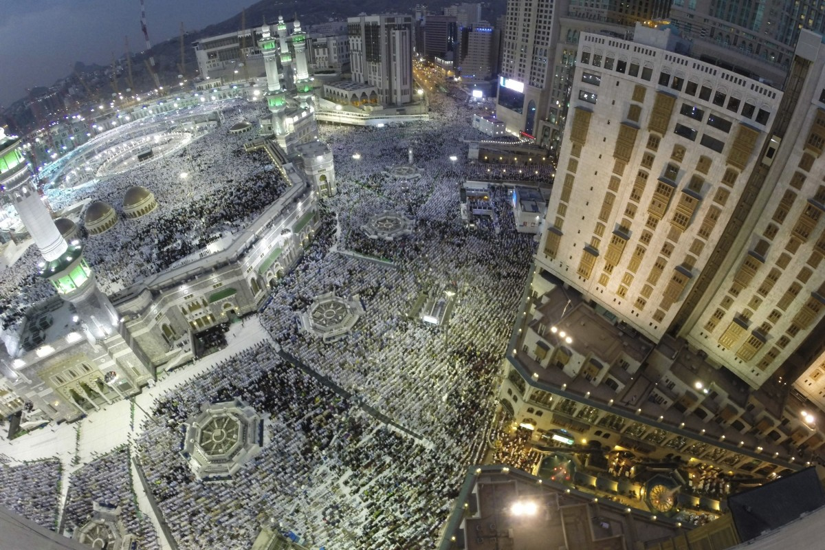 Muslim pilgrims pray around the holy Kaaba at the Grand Mosque during the annual Hajj pilgrimage in Mecca Muslim pilgrims pray around the holy Kaaba at the Grand Mosque during the annual Hajj pilgrimage in Mecca